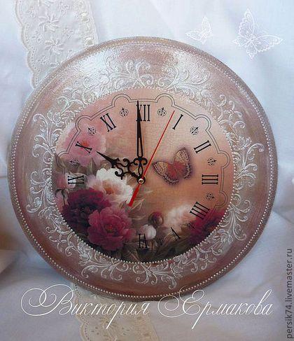 "Часы для дома ручной работы. Ярмарка Мастеров - ручная работа Часы "" Цветущий сад"".. Handmade."