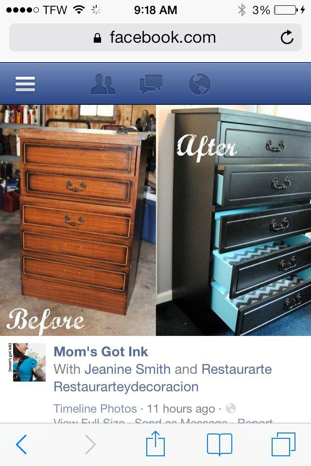 How to redo a dresser
