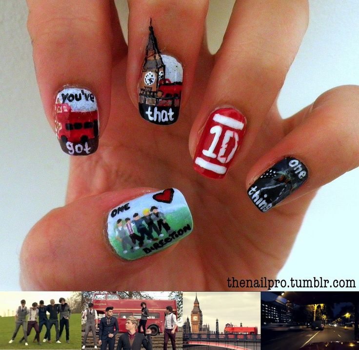 ONE DIRECTION!1D Nails, Nails Art, Neat Nails, Nails Forever, Nails Ideas, Things, Ales Aguilar, Huge Fans, One Direction Nails
