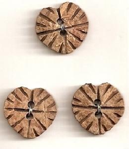 Elan 30 9544B Wooden Heart Button