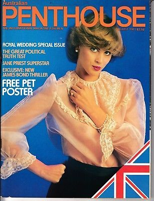 Australia Penthouse Magazine - Jane Priest, James Bond, Royal Wedding - Aug 1981