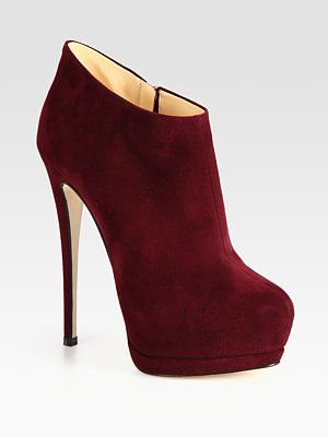 Giuseppe Zanotti Suede Ankle Booties
