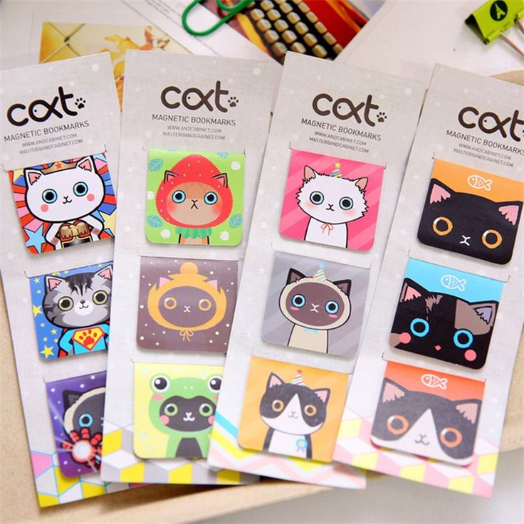 3 Pcs/lot cat Cartoon Kawaii Stationery Magnetic Bookmark For Books Mark Clips Office Teacher Gift Kids School Supplies
