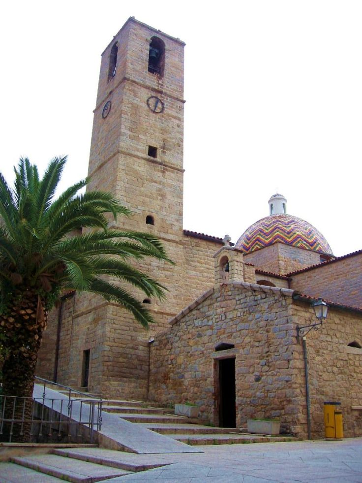 Main church and side chapel, Olbia, Sardinia