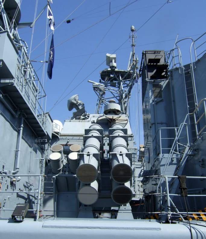 f 208 fgs niedersachsen type 122 bremen class frigate german navy mk 141 rgm-84 harpoon missile ssm launcher