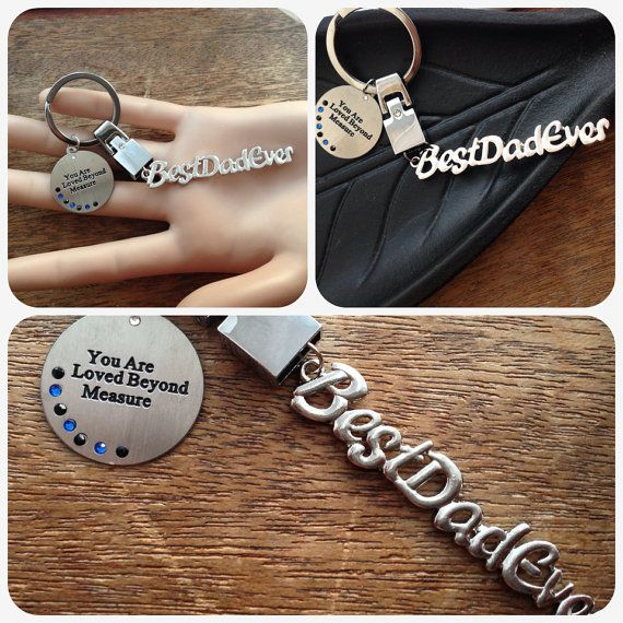 Best Dad Ever key ring - Christmas keepsake gifts for dad daddy baba Papa sentimental by heart unusual presents for him mens father gand dad