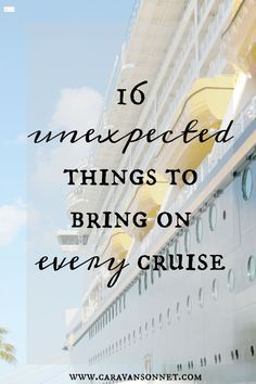 16 unexpected things to bring on every cruise #cruise #cruisetips #caravansonnet #travelblogger