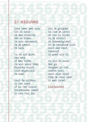 Gedicht 10 minuten van Lentezoet