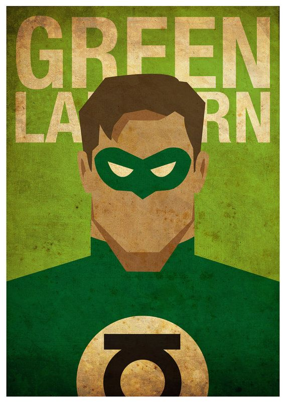 Superheroes Flash Batman and Green Lantern 3 by MyGeekPosters