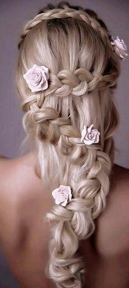 Tangled inspired hair.