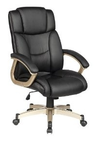 High Back Executive Leather Ergonomic Office Chair w/Heavy Duty Metal Base O9
