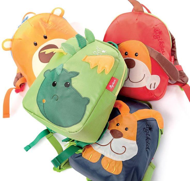 sigikid Mini-Rucksäcke für ganz kleine Kinder. Ideal für Kinderkrippe und den Start in den Kindergarten.