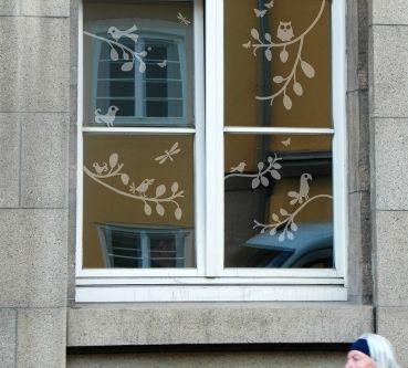 Fensterdekoration Frühling 2015 -liebevolle Fensterdekoration von Lovala Fenstertattoo