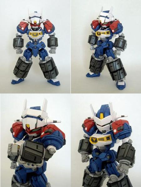 This is a very beautiful papercraft is the Gear Fighter Dendoh designed by Cream Bread.