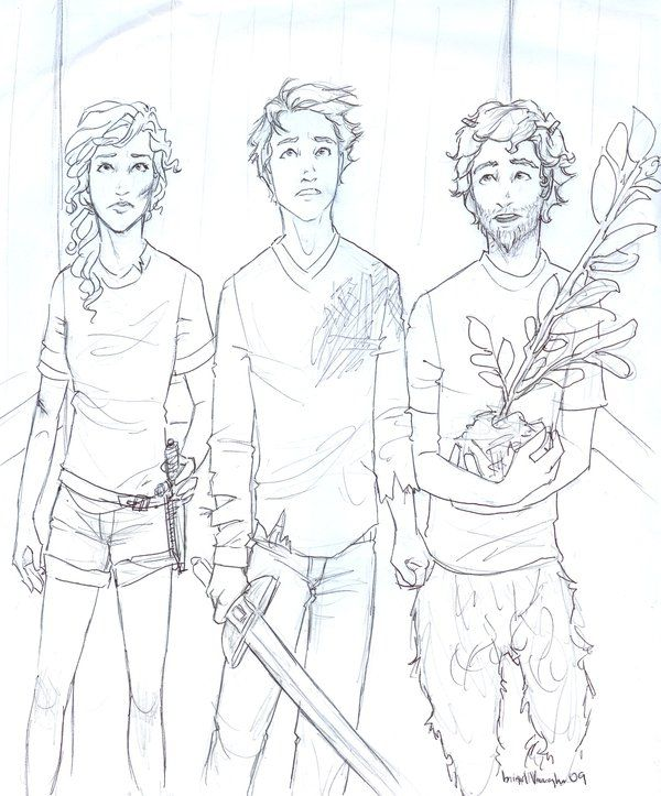"""Grover cradled his laurel sapling in his hands. 'Well...sure good to be together again. Arguing. Almost dying. Abject terror. Oh, look. It's our floor.'"" --The Last Olympian, chapter 17   WIP by *burdge-bug on deviantART"