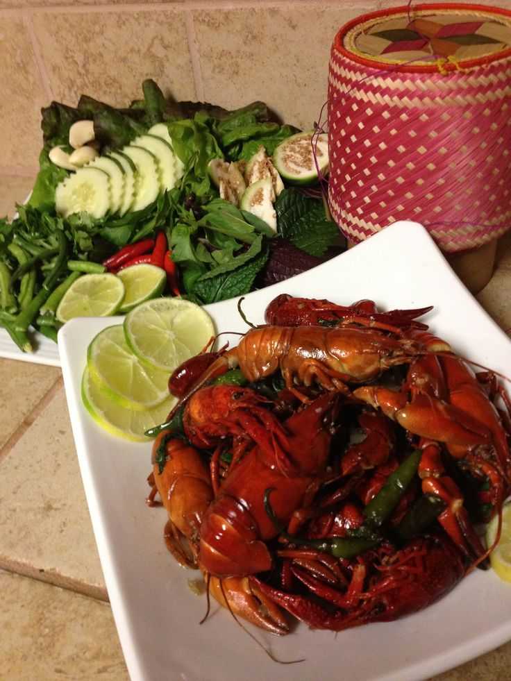 Crayfish lao style sabaidee thai grille northern for Ano thai lao cuisine menu