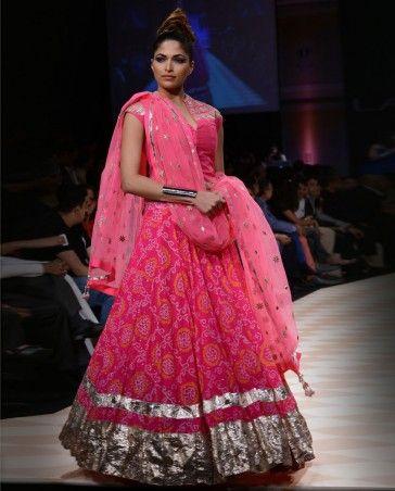 Rajasthani Pink Bandhani Lengha Set