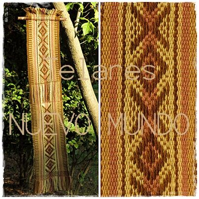 Mapuche Loom, supplementary warp and circular /// Telar Mapuche, urdimbre suplementaria circular.