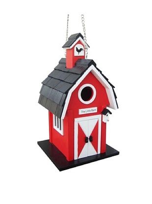 51% OFF Home Bazaar The Little Barn Birdhouse, Red