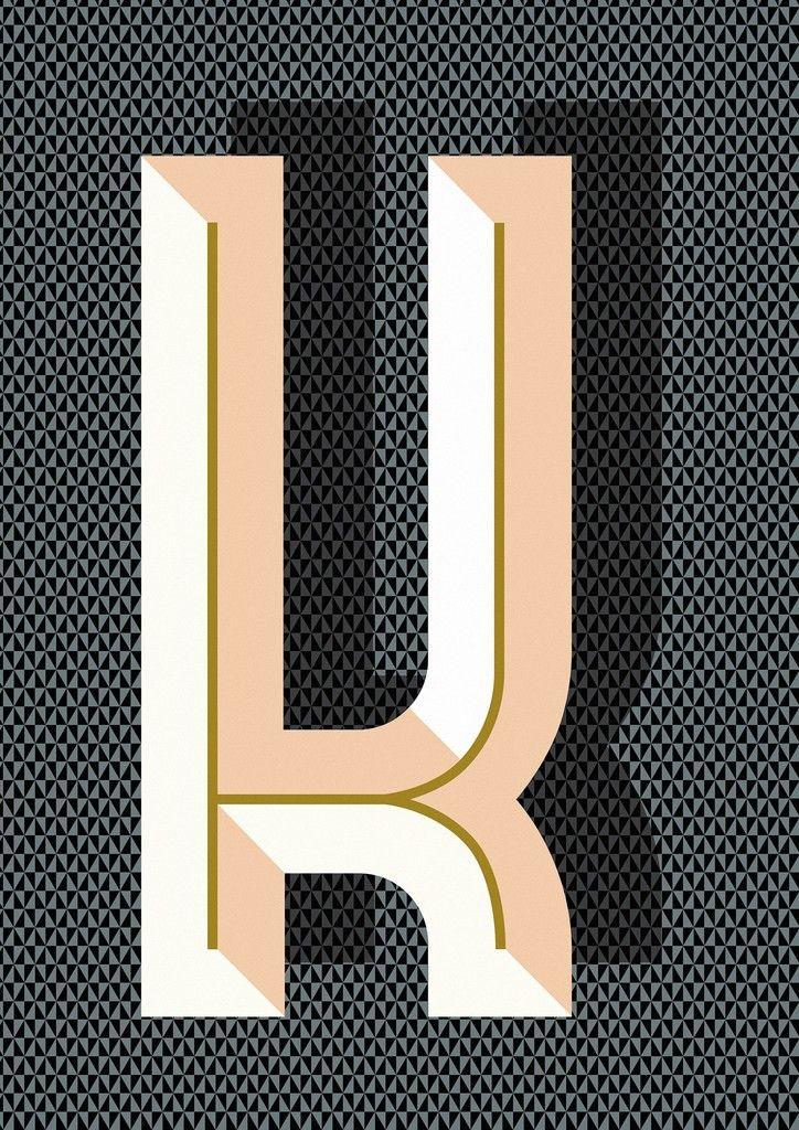 Ferm Living Bau Deco Letter Posters (A-Z) - House