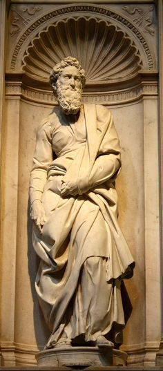 Statue of Saint Paul1503–1504 by Michelangelo in the Cathedral of Siena