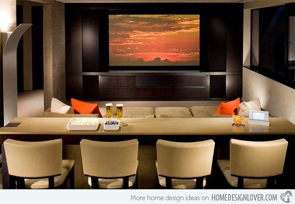 15 Contemporary Media Room Designs   Home Design Lover
