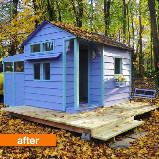 18 best images about shed to club house on pinterest for Children s garden sheds