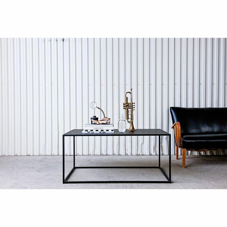 Domo Rectangle sofabord, sort – Domo – Køb møbler online på Room21.dk
