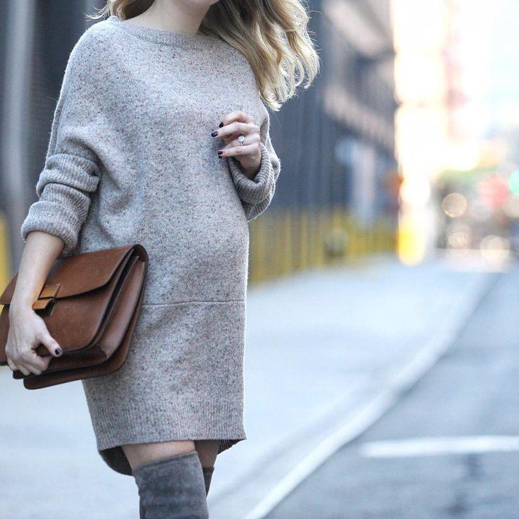 38 super schicke und stylische Schwangerschaftsoutfits von Bloggern