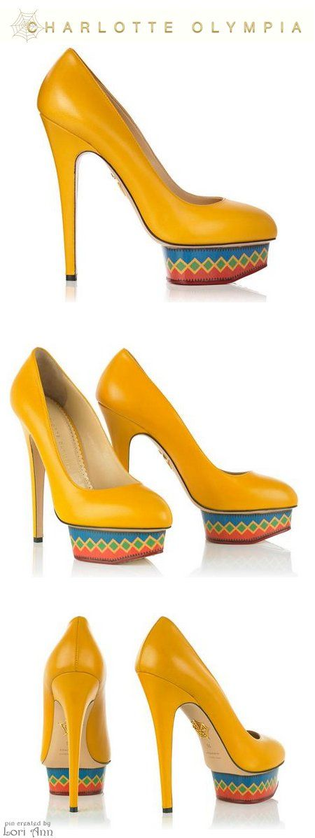 Charlotte Olympia Dolly Maraca in Yellow - Cruise 2015