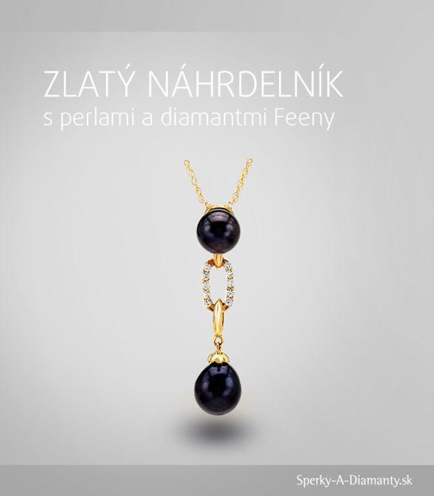 A máme tu ďalší nádherný kúsok, tentokrát s čiernymi perlami. Vedeli ste, že ázijskí vládcovia a cisári nosili veľké čierne perly ako symbol svojej oprávnenej zvrchovanosti? V Európe boli zas čierne perly symbolom humanizmu, nádeje a viery. Nech už budú pre Vás symbolizovať čokoľvek, čierne perly na tomto zlatom náhrdelníku s diamantmi na Vás zaručene zažiaria.     Náhrdelník nájdete tu: http://www.sperky-a-diamanty.sk/sk/sperk/zlaty-nahrdelnik-s-perlami-a-diamantmi-feeny/114314