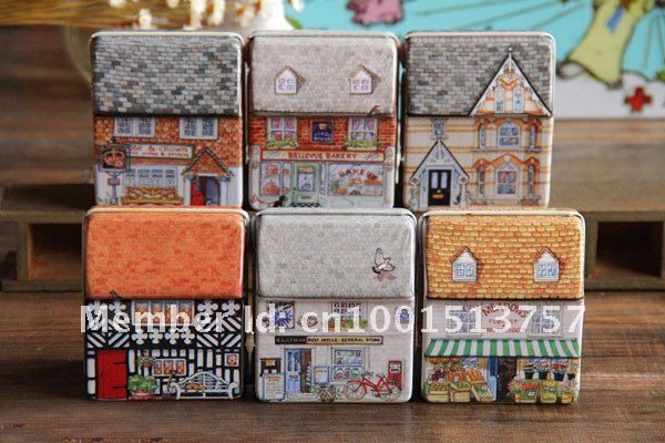 Free Shipping!12pcs/lot New vintage Mini house shape Tin Box Storage case Wedding Candy Box jewellery box Mix Design-in Storage Boxes & Bins from Home & Garden on Aliexpress.com | Alibaba Group
