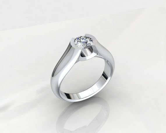 Solitaire 3D CAD STL File Format Ring JCL146142 by PiettroJewelry, $18.00