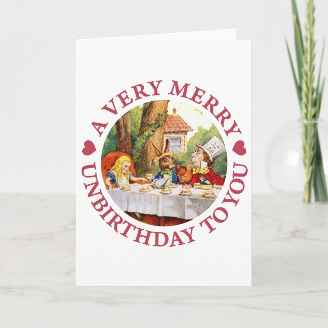 A Very Merry Unbirthday To You Holiday Card Zazzle Com Holiday Design Card Holiday Cards Boxed Holiday Cards