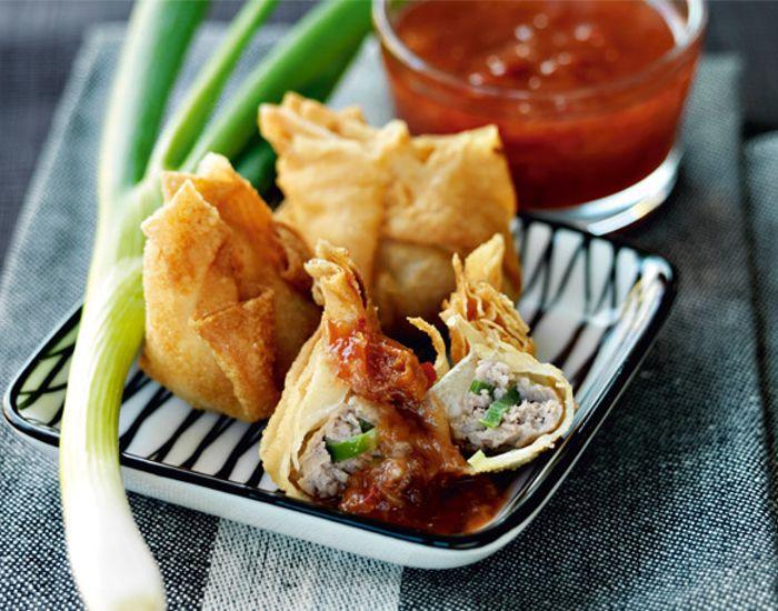 Dumplings med svinekød og blommesauce - Måltid