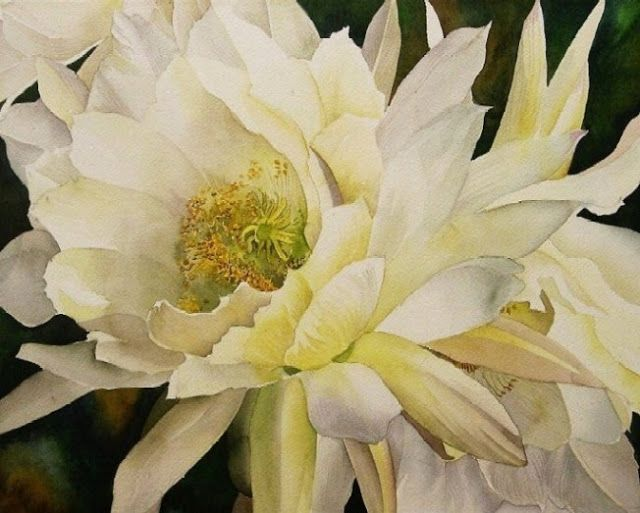 112 best White flower paintings images on Pinterest | Art floral ...