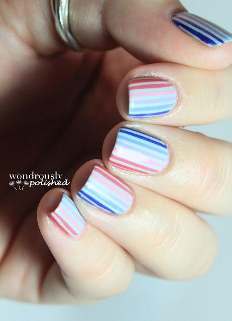 Vertical Stripes Nail Art