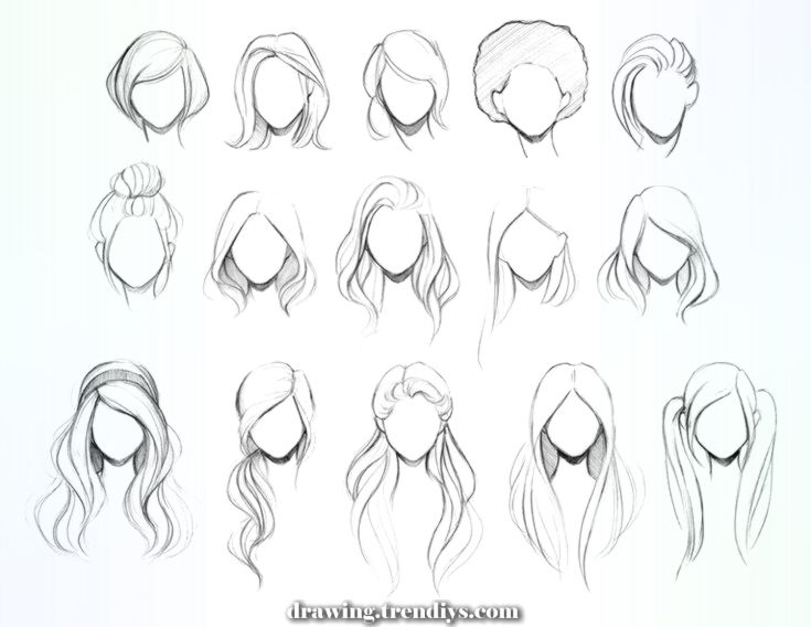 Beautiful Seven Methods Cute Straightforward Hairstyles Drawings Can Enhance Your Enterprise Hair Illustration How To Draw Hair Hair Sketch