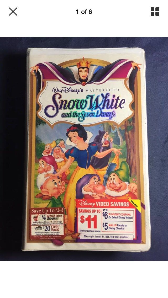 Vintage Walt Disney's Masterpiece Snow White and the