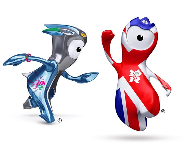 London 2012 Olympic Mascots - meet Wenlock and Mandeville.