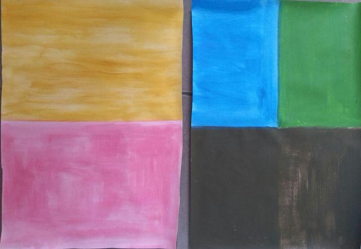 Background development for finals. Triadic colour scheme and monochromatic.