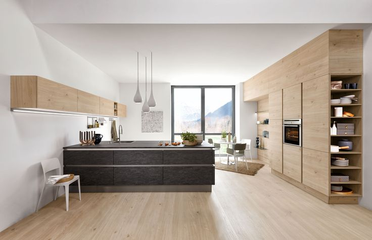 Artwood - Bough oak platinum   Feel Sahara soft mat #nolte #german - küche weiß mit holz
