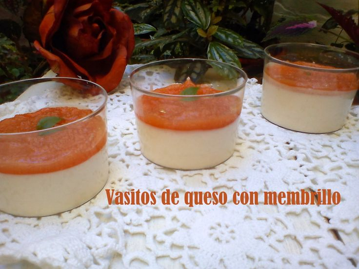 marronglacè: Vasitos de queso con membrillo