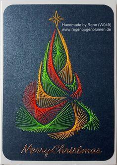 Fadengrafik - GrußKarten - Set mit dem abgebildeten Fadengrafik-Motiv gearbeitet mit glänzenden Metallic-Garn bestehend aus: 1 Doppelkarte / Klappkarte im Format 10,5 x 14,8 cm 1 passender...