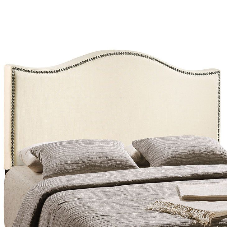 Modway Furniture Modern Curl King Nailhead Upholstered Headboard #design #homedesign #modern #modernfurniture #design4u #interiordesign #interiordesigner #furniture #furnituredesign #minimalism #minimal #minimalfurniture