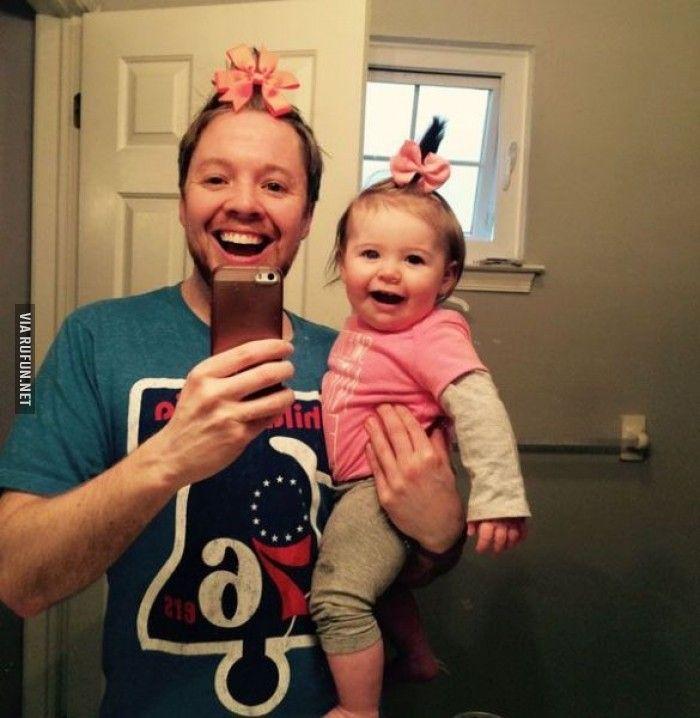 Пухка дочка и папа