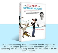 Dr. Campos subscribes to the wellness philosophy that he calls the Six Key Model. This paradigm for total health maintains that optimal health and wellness can be obtained through the nurturing of six key areas.
