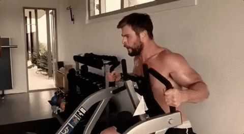 New party member! Tags: exercise workout chris hemsworth muscles pecs
