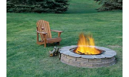 Fire pit design - but with reddish rocks