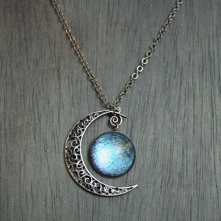 Aurora Moonlight Antique Silver Necklace by moonlightmine on Etsy